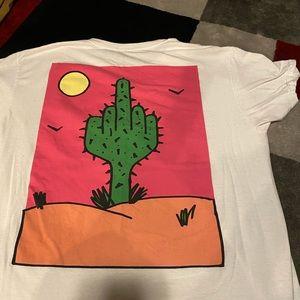 Middle figure cactus Men t-shirt